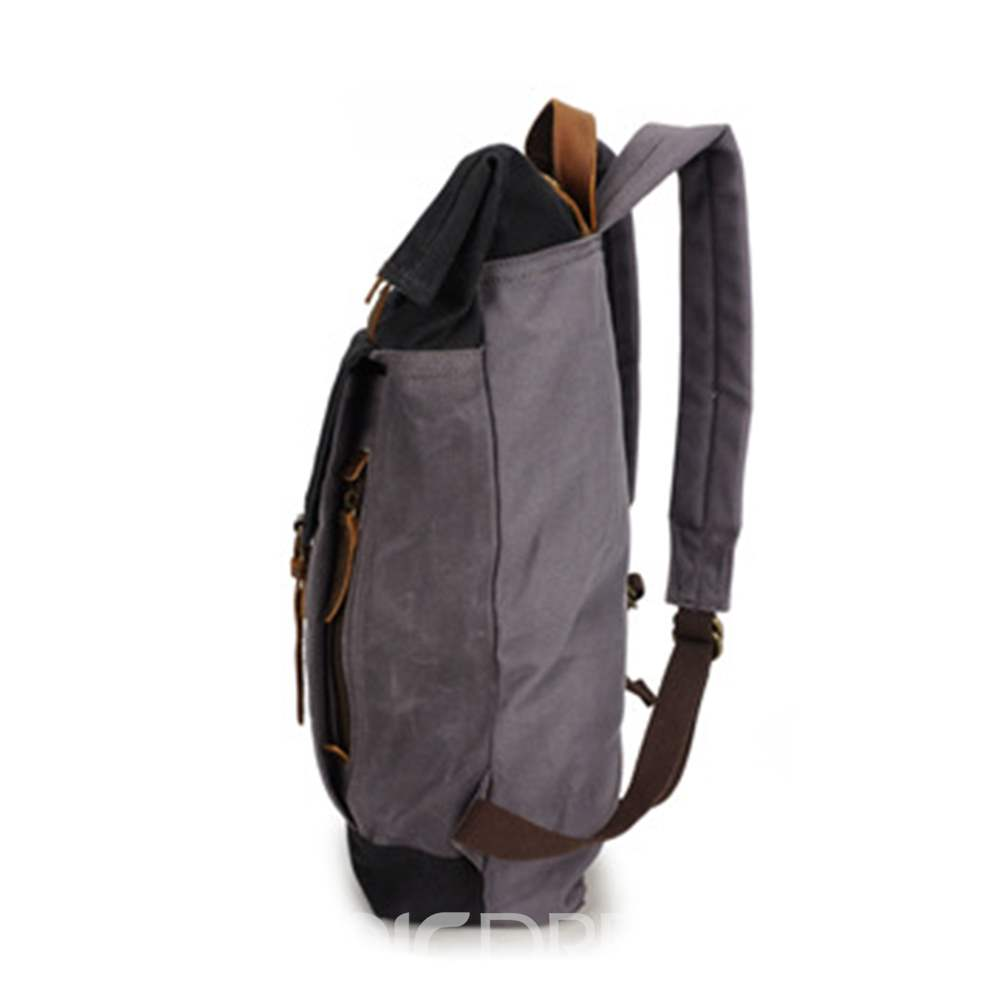 Ericdress Canvas Patchwork Backpacks