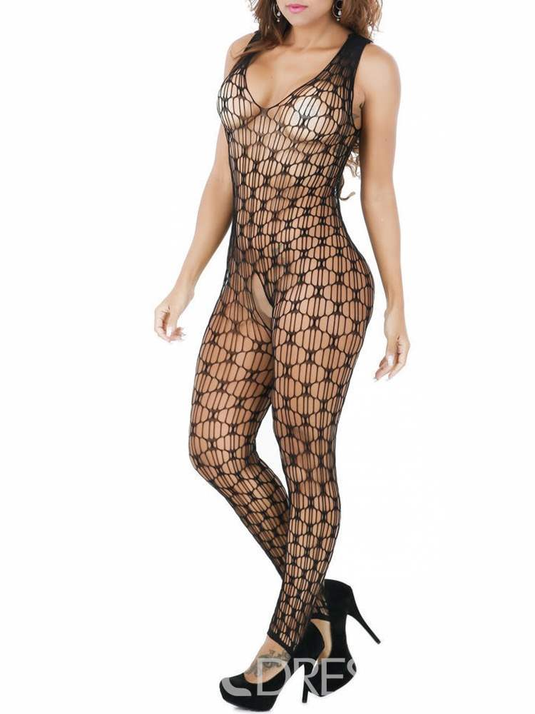 Ericdress Crotchless Hollow Sleeveless Fishnet Bodystocking Lingerie