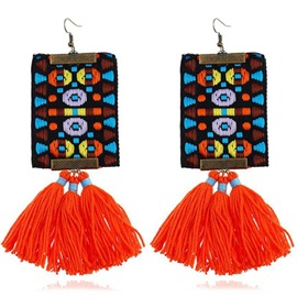 Ericdress Woven Alloy Orange Earrings