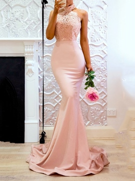 Ericdress Trumpet/Mermaid Floor-Length Lace Evening Dress