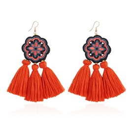 Ericdress Tassel Bohemian Orange Earrings