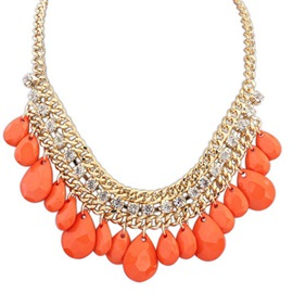 Ericdress Living Coral Water Drop Necklace
