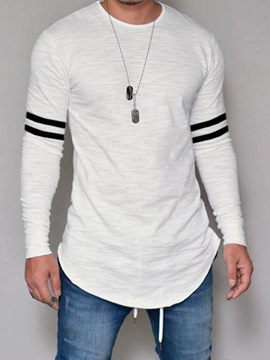 Ericdress Striped Print Mens Casual T-shirt