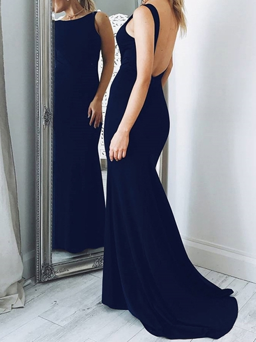 Ericdress Floor-Length Bateau Sheath Backless Evening Dress