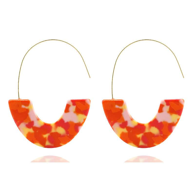 Ericdress Living Coral Acrylic Anniversary Earrings