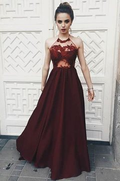 Ericdress Floor-Length Sleeveless Appliques A-Line Prom Dress