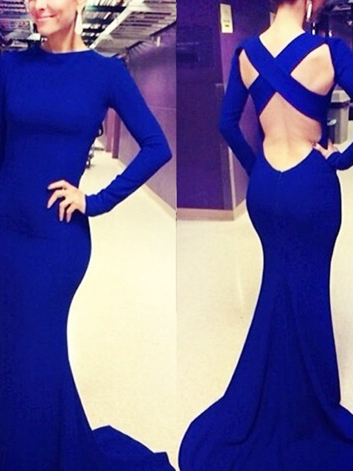 Mermaid Long Sleeves Floor-Length Evening Dress