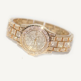 Ericdress Diamante Round Hardlex Watch For Women