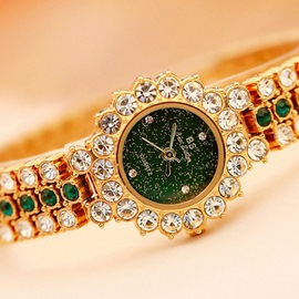 Ericdress Quartz Round Rhinestone Watch