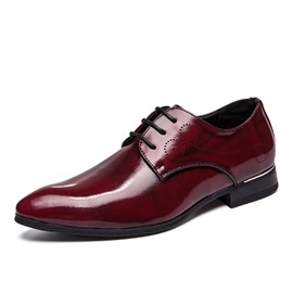 Ericdress Plain Round Toe Lace-Up Men's Dress Shoes