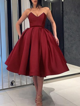 Ericdress Knee-Length Ball Gown Sweetheart Evening Dress 2019