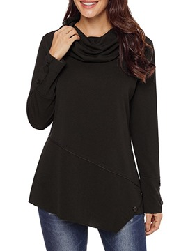 Ericdress Plain Regular Mid-Length Long Sleeve Hoodie