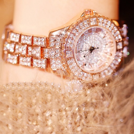 Ericdress Round Rhinestone Watch For Women