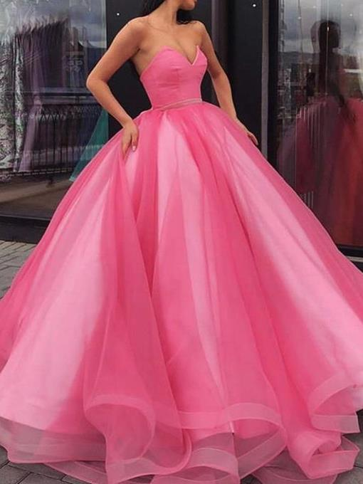 Ericdress Ball Gown Sleeveless Sweetheart Evening Dress
