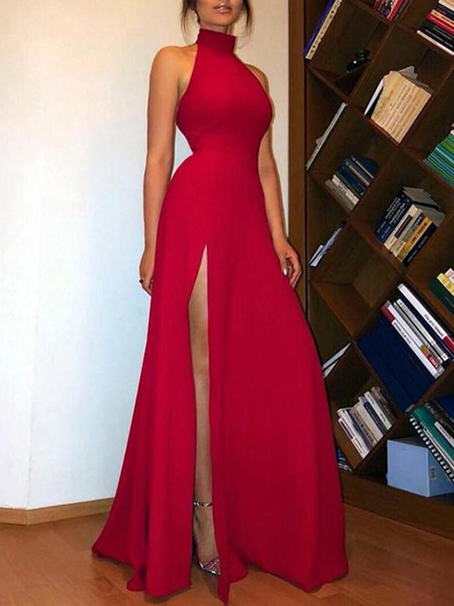 Ericdress High Neck Sheath Split-Front Prom Dress