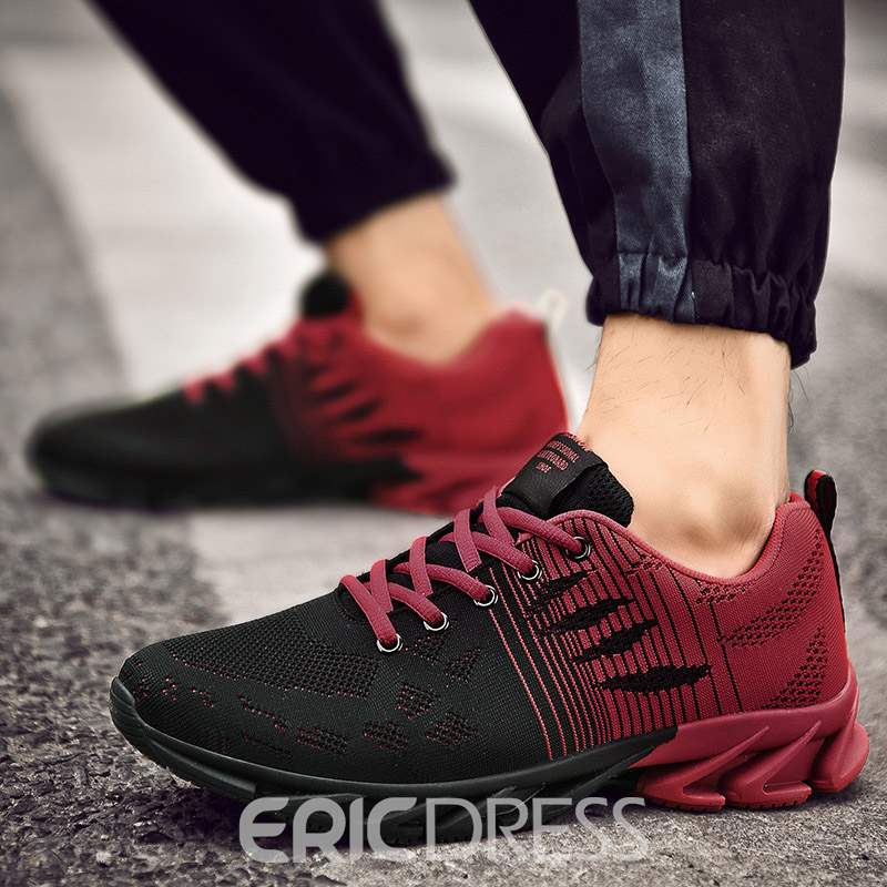 Ericdress Mesh Lace-Up Round Toe Slip-On Men's Breathable Sneakers