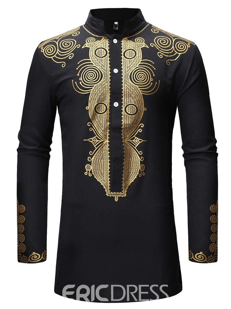 Ericdress Dashiki Printed African Style Mens Casual Outfit