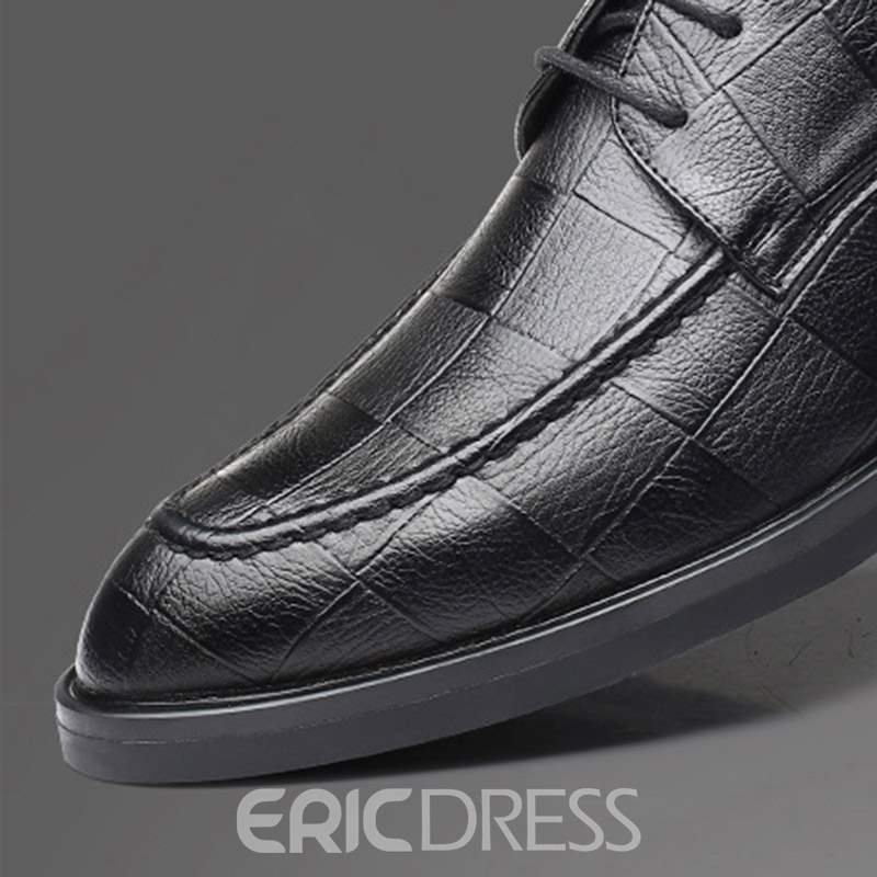 Ericdress Plain Low-Cut Upper Lace-Up Men's Dress Shoes
