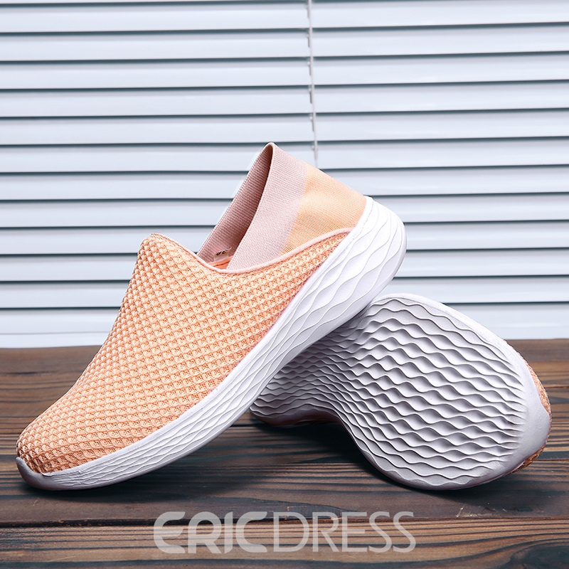 Ericdress Candy Color Mesh Slip-On Round Toe Women's Flats