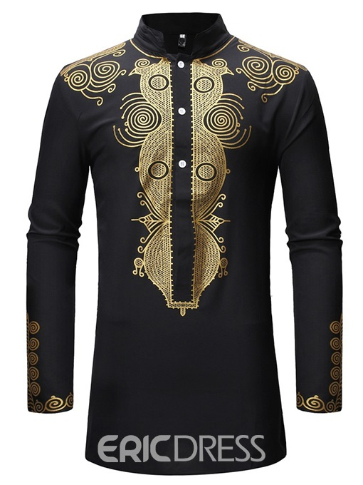 Ericdress African Fashion Dashiki Printed Mens Casual Outfit
