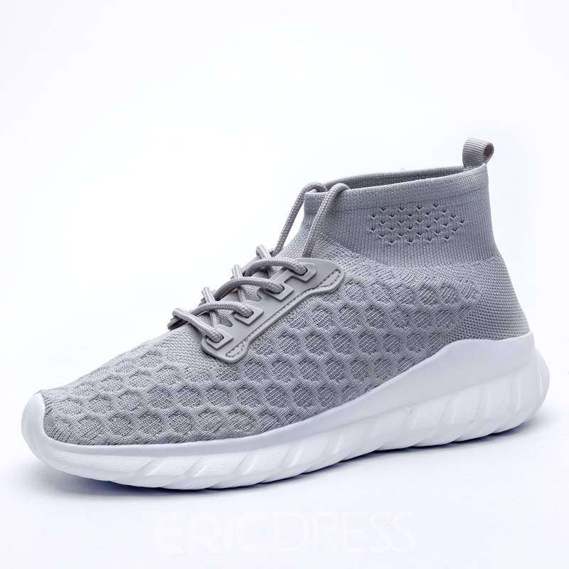 Ericdress Plain High-Cut Upper Lace-Up Men's Sneakers