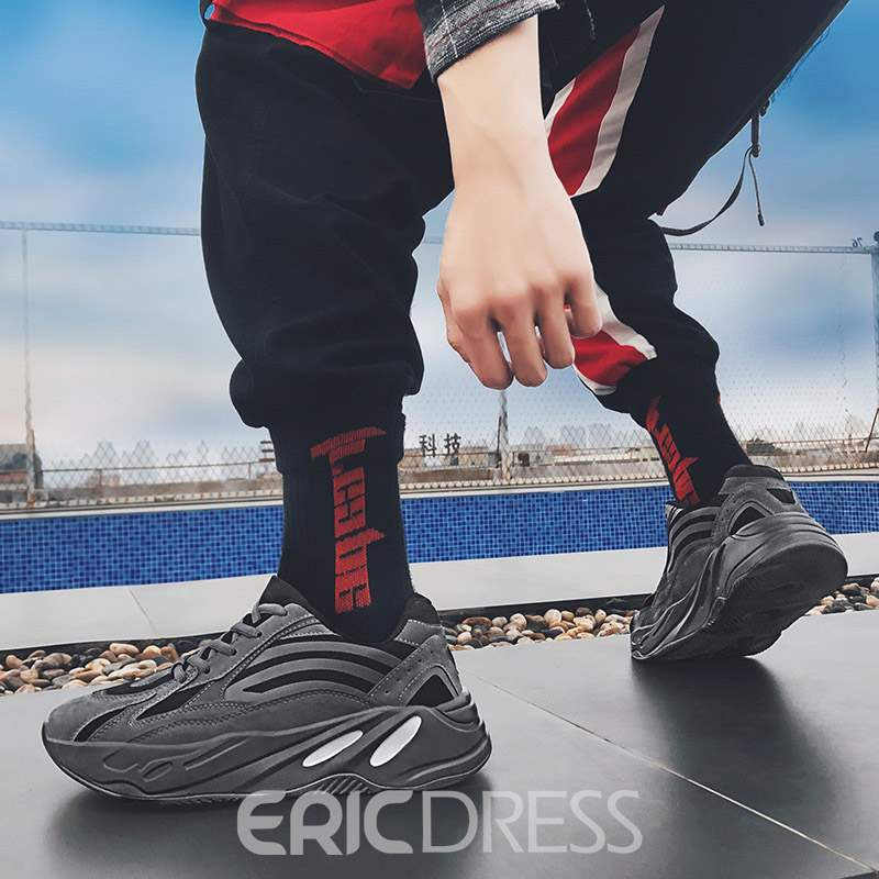 Ericdress Mesh Patchwork Lace-Up Low-Cut Upper Men's Chic Sneakers