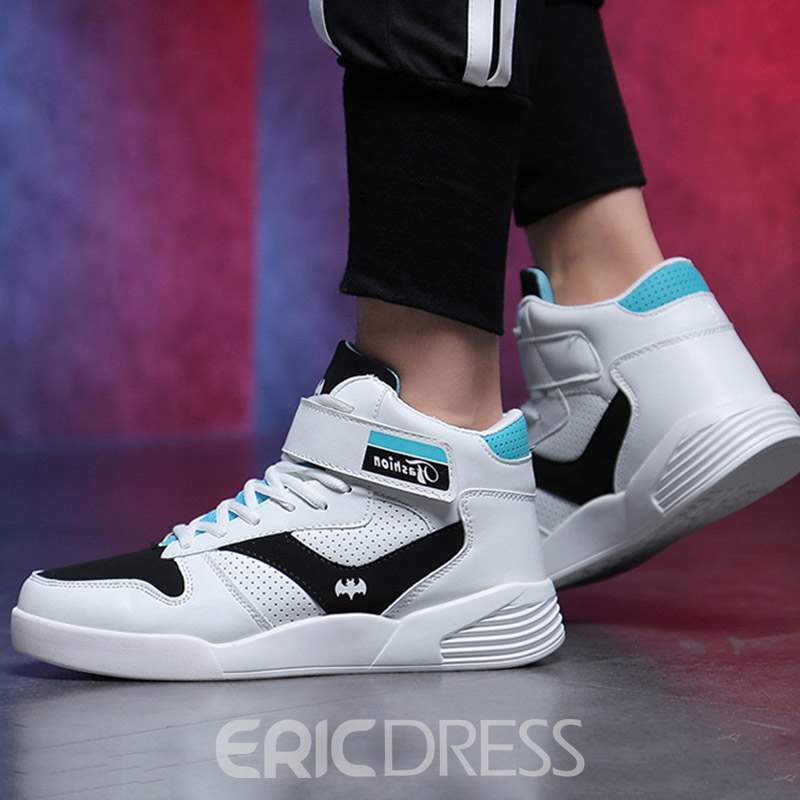 Ericdress Lace-Up High-Cut Upper Mesh Men's Chic Sneakers