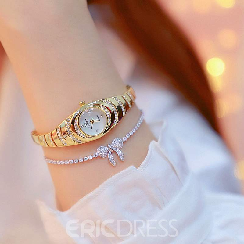 Ericdress Oval Diamante Watch