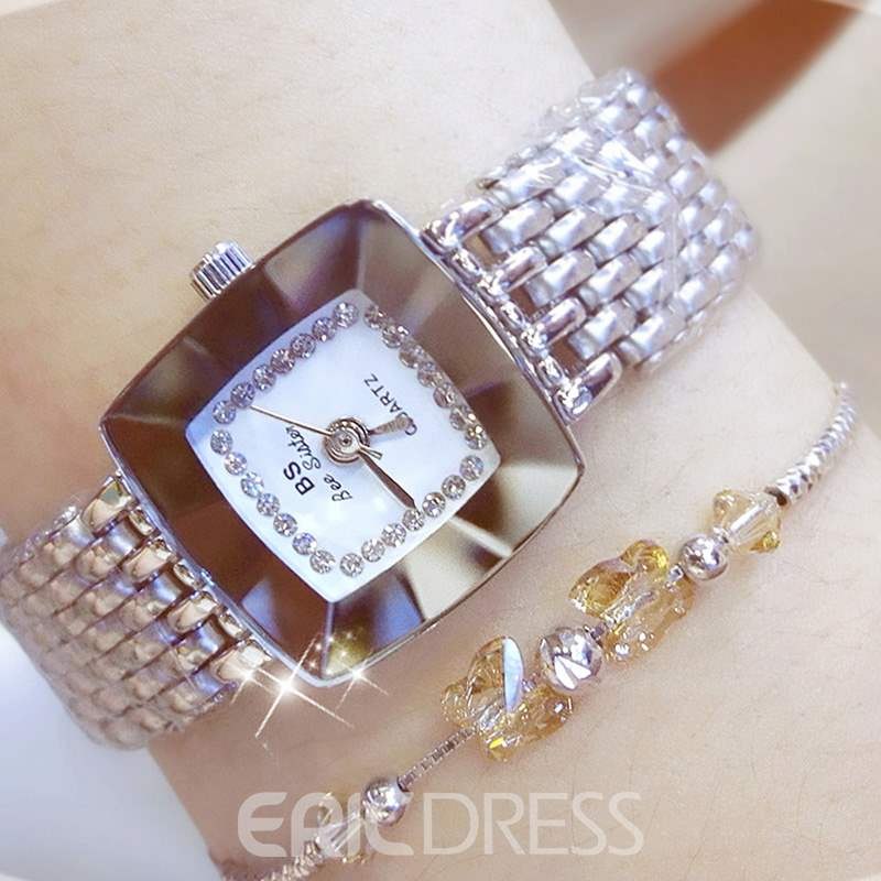 Ericdress Glass Square Watch For Women