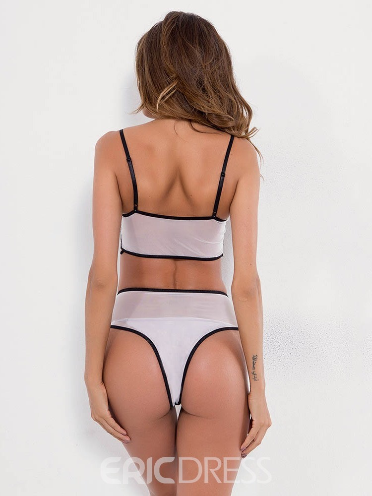 Ericdress Color Block Lace Backless Sleeveless Tight Wrap Sexy Sets
