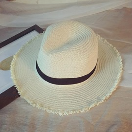 Ericdress Straw Summer Plain Hat