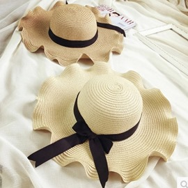 Ericdress Wave Bowknot Summer Hat