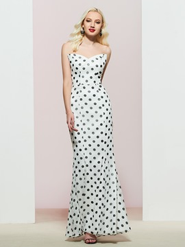 Eicdress Mermaid Sweetheart Polka Dots Evening Dress 2019