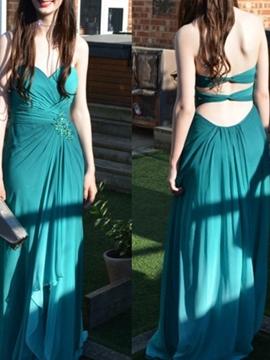 Ericdress Sweetheart Sleeveless A-Line Prom Dress