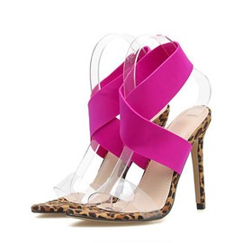Ericdress PVC Strappy Stiletto Heel Women's Sandals