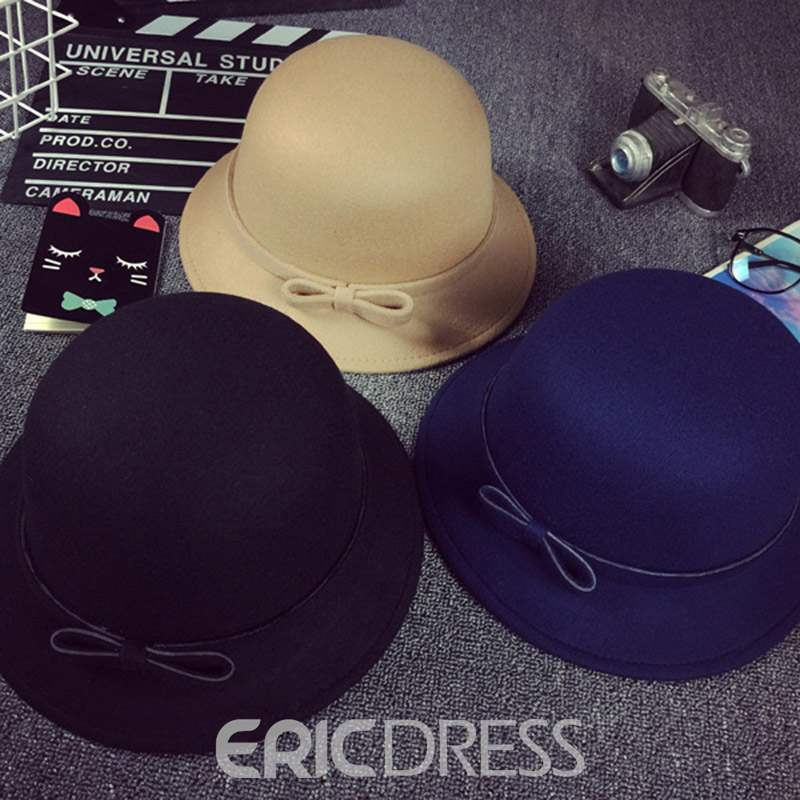 EricdressPure Colour Bowknot Hat