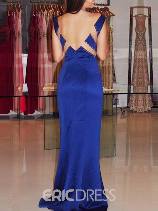 Ericdress Hollow Floor-Length Sheath Evening Dress