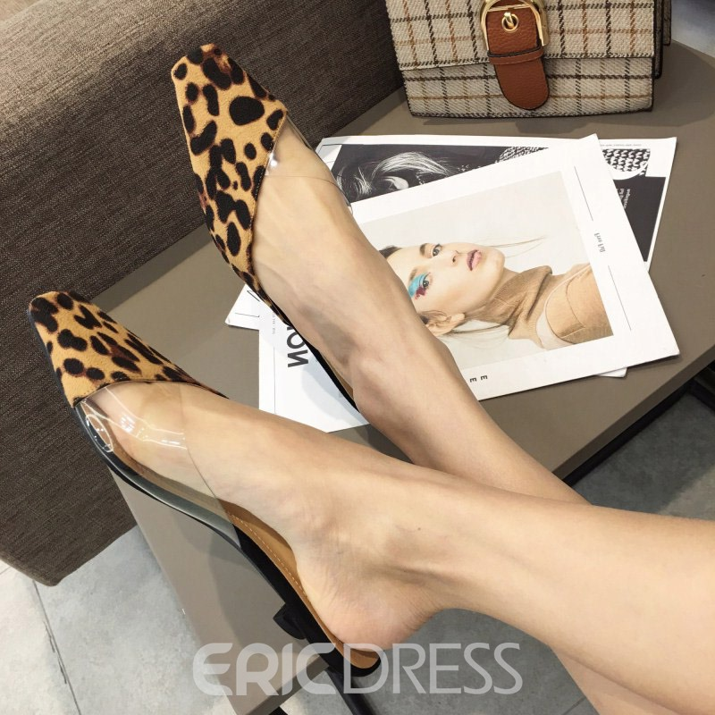 Ericdress Patchwork Stiletto Heel Slip-On Women's Mules Shoes