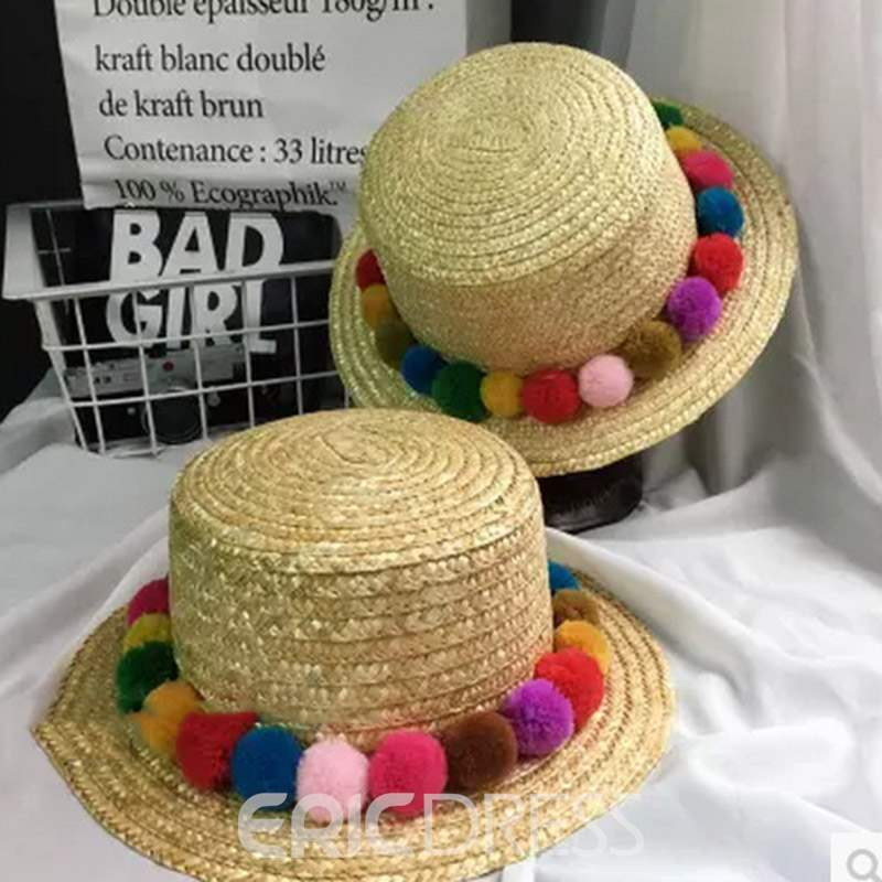 Ericdress Straw Plaited Article Straw Hat Summer Plain Hat