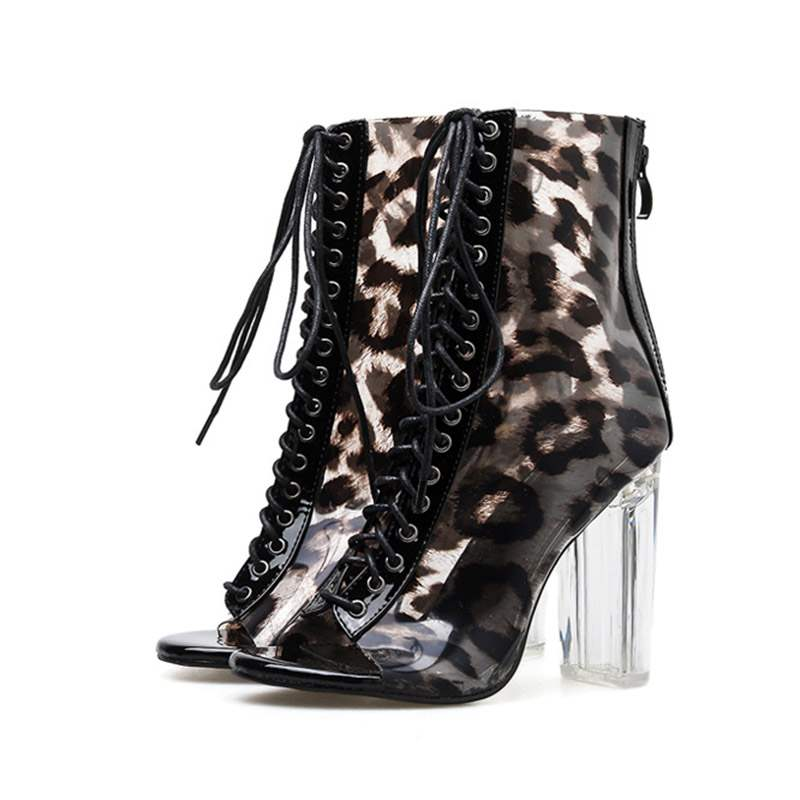 Ericdress PVC Chunky Heel Women's Ankle Boots