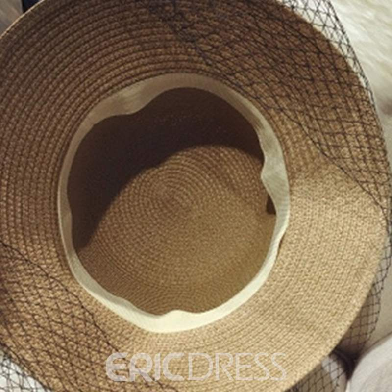 Ericdress Mesh Straw Plain Summer Hat