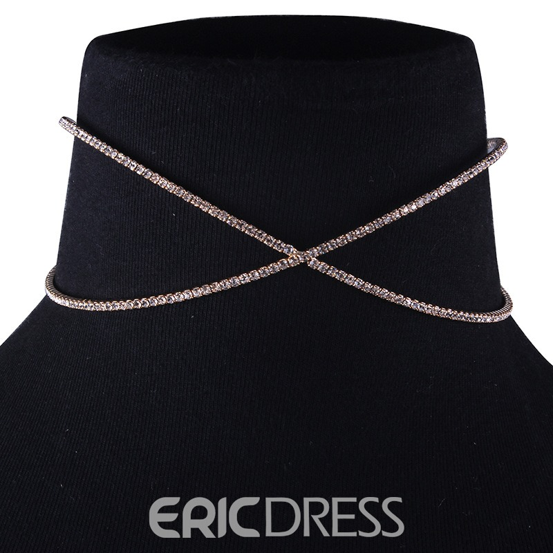 Ericdress Diamante Cross Necklaces