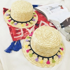 Ericdress Straw Tassel Summer Hat
