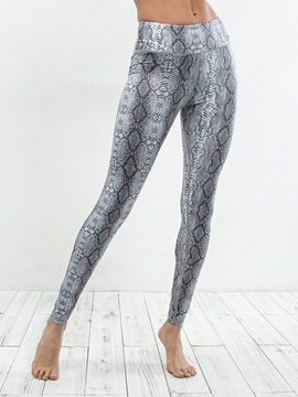 Ericdress Print Anti-Sweat Serpentine Yoga Leggings