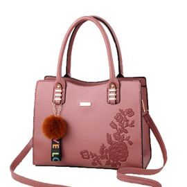 Ericdress Embossing PU Floral Square Handbag