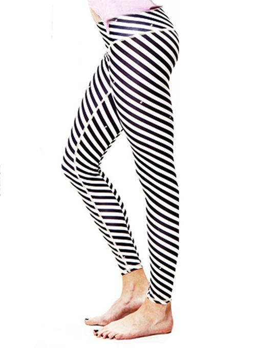 Ericdress Quick Dry Print Zebra Stripe Yoga Pants High Waist Tiktok Leggings