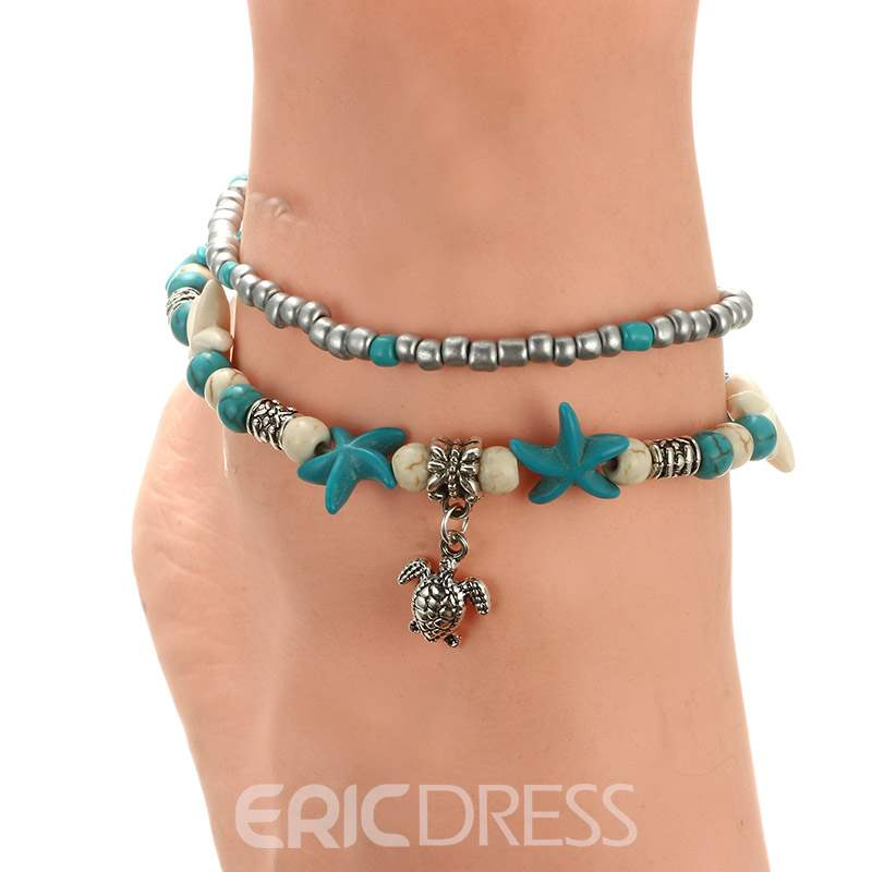 Ericdress Conch Bohemia Style Anklet
