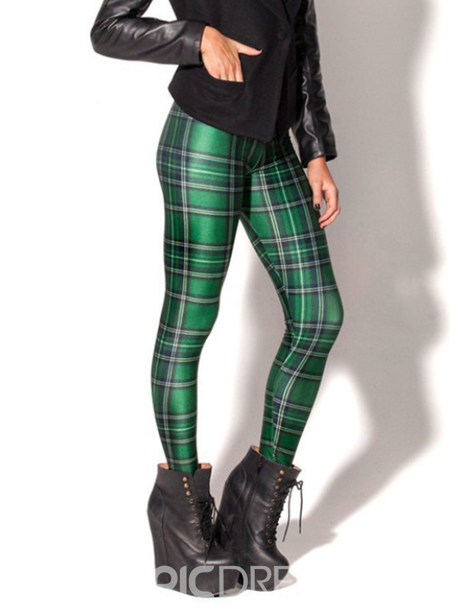 Ericdress Plaid Anti-Sweat Print Yoga Pants