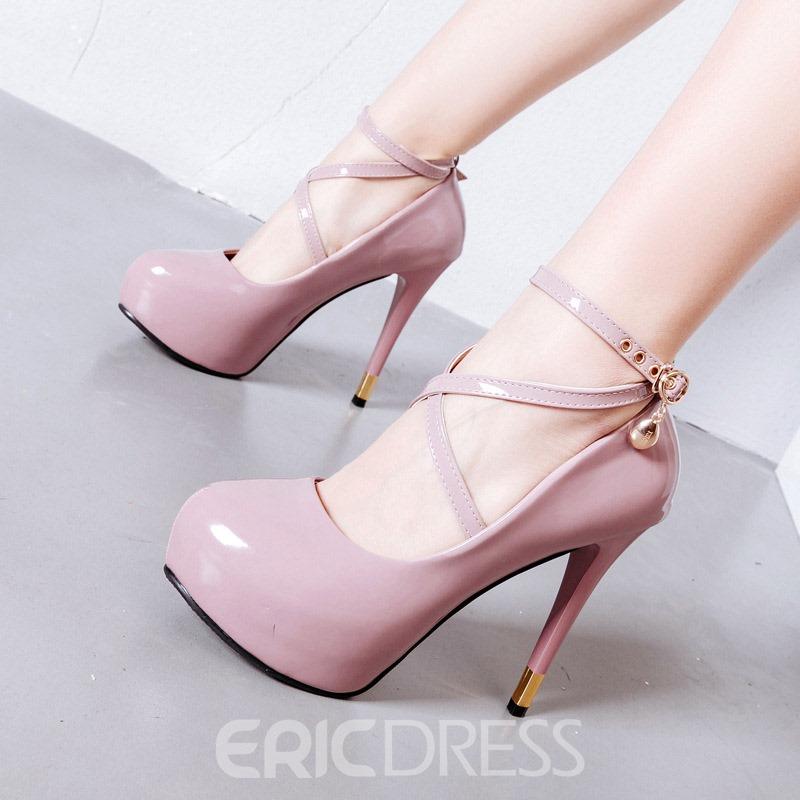 Ericdress Platform Line-Style Buckle Stiletto Heel Women's Pumps