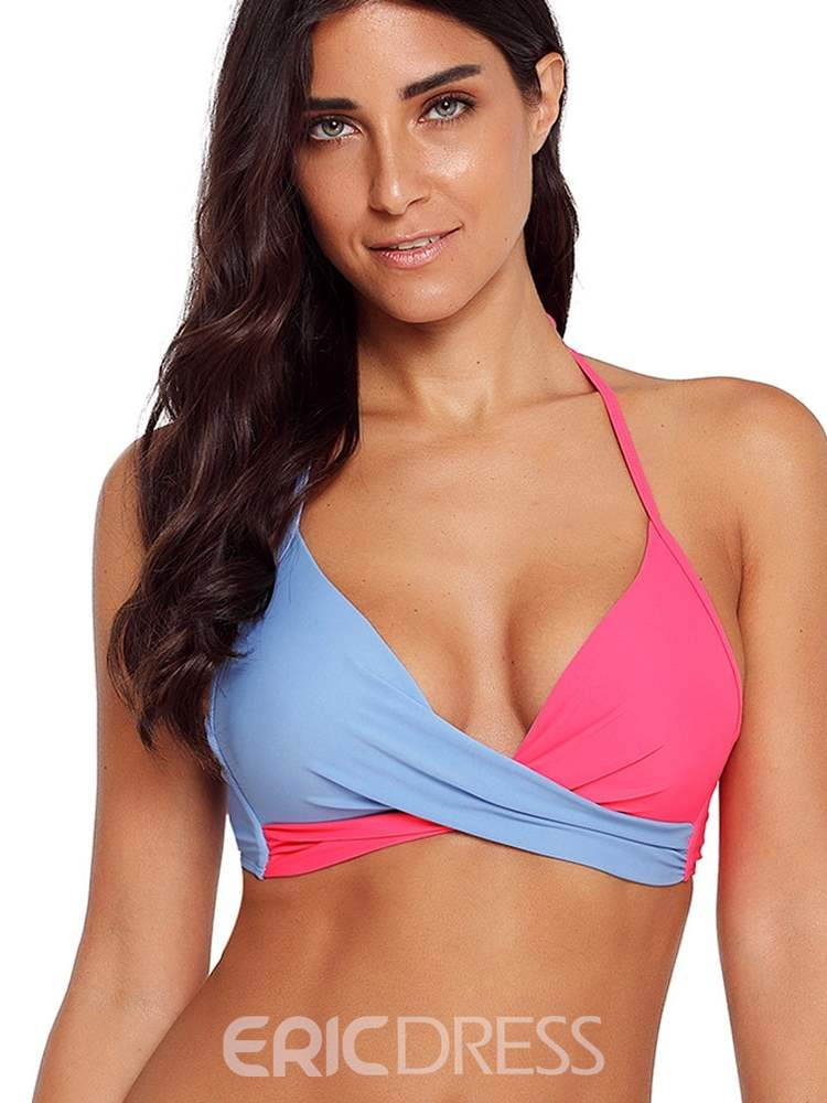 Ericdress Patchwork Color Block Sexy Women's Bikini Set
